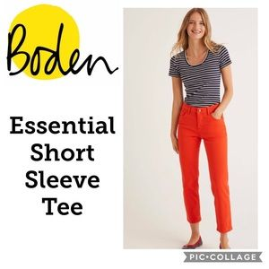Boden Striped Essential Short Sleeve Tee